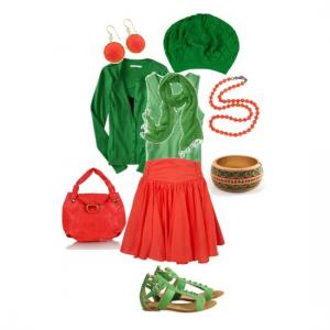 Гармоничным сочетанием является сочетание зеленого и красного | Гармоничное сочетание сочетание зеленого и красного