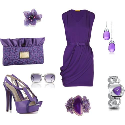 Какой цвет сочетается с фиолетовым