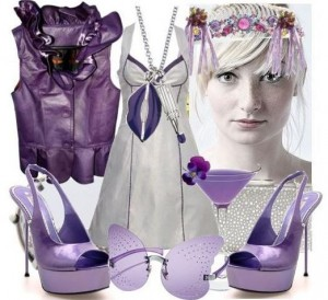 Очень элегантно смотрится фиолетовый в тандеме с серым    Элегантное сочетания фиолетового с серым