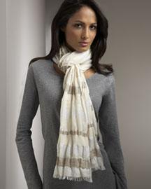 Европейский узел самый популярный вариант завязывания шарфа