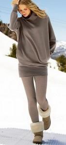 Леггинсы зимой можно носить под угги