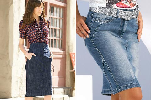 Купить джинсовую юбку карандаш